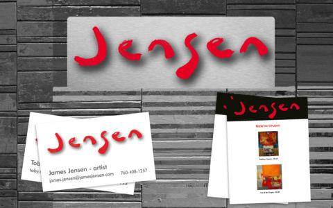 Logo design, business cards and newsletter for James Jensen